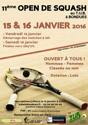 11ème open Squash Bondues